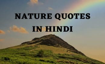 Hindi Quotes on Environment