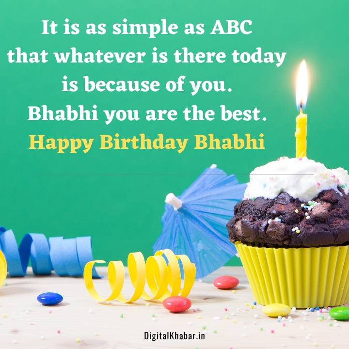 Birthday Wishes for Bhabhi in Hindi