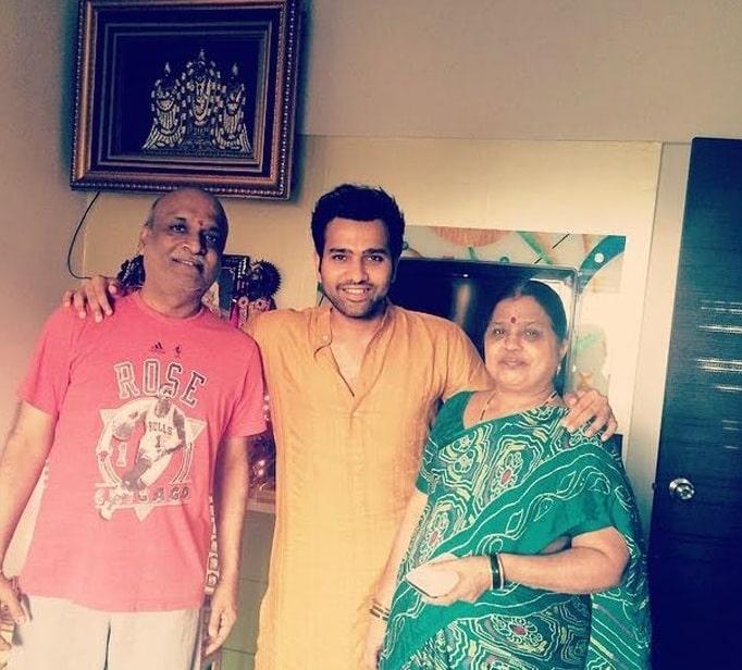 रोहित शर्मा के माता पिता