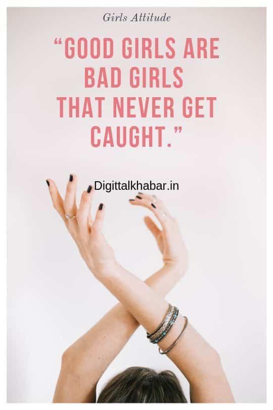 Girls Attitude Shayari english