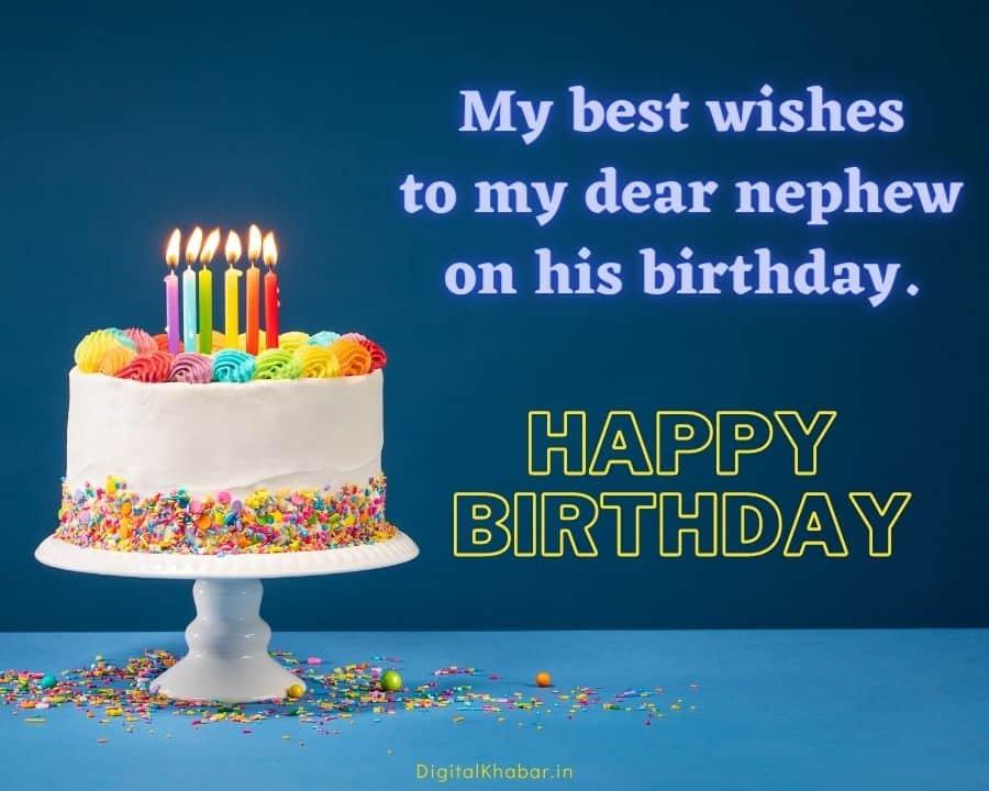 birthday wishes for bhatija in English