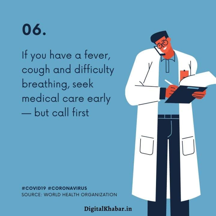 If you have a fever, cough and difficulty breathing, seek medical care early – but call first.