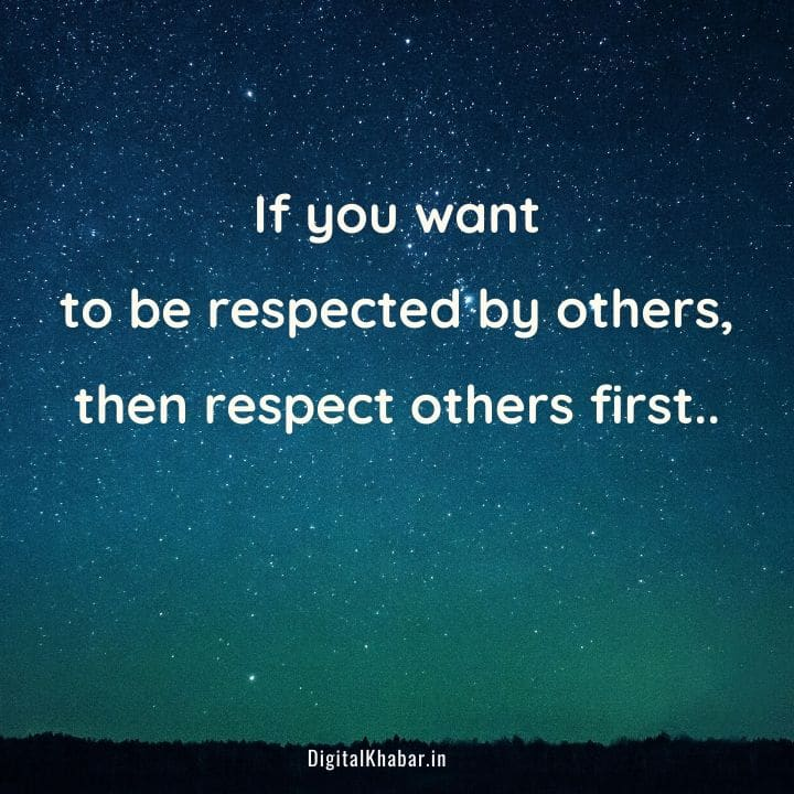 Respect Status in English