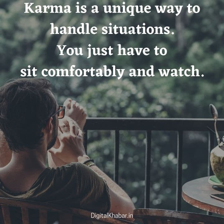 Karma Quotes in English Font