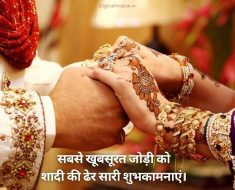 Marriage Anniversary Wishes in Hindi for Friend