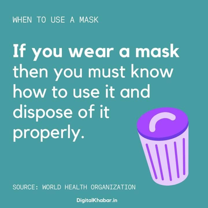 how to dispose mask