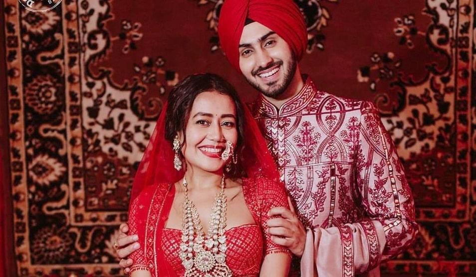नेहा कक्कर अपने पति रोहनप्रीत के साथ