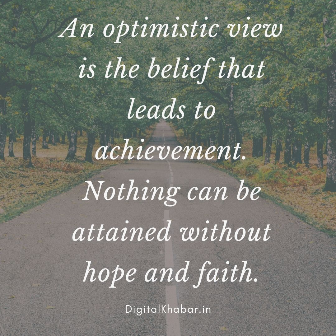 thought of the day motivational an optimistic view